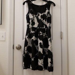 Kensie Dress Black and White Pattern